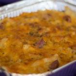 Mom's macaroni cheese with crispy pork