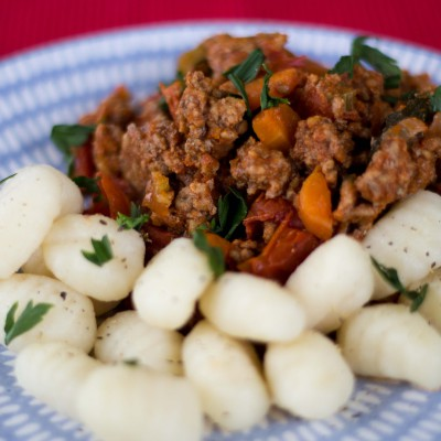 Slow cooked beef ragout
