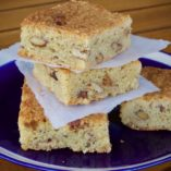 There's a lot of great things to say about these butterscotch blondies - they're chewy, rich and soft, with perfect butterscotch sweetness that's slightly offset with salted pecans. They taste fantastic as they are, but add a scoop of homemade vanilla ice cream for a real treat.