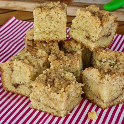 Cinnamon streusel squares