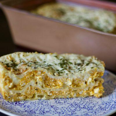 Butternut and ricotta lasagne