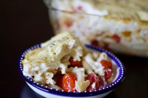 Roasted tomato and 3 cheese pasta