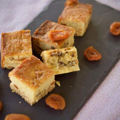 Sticky apricot squares