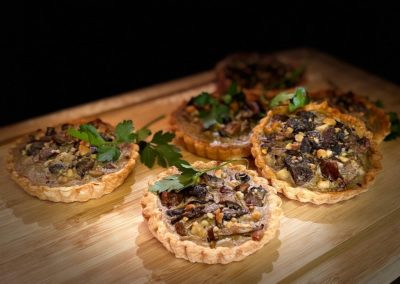 Mixed mushroom and cashew tarts