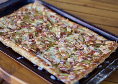 Bacon and apple tart
