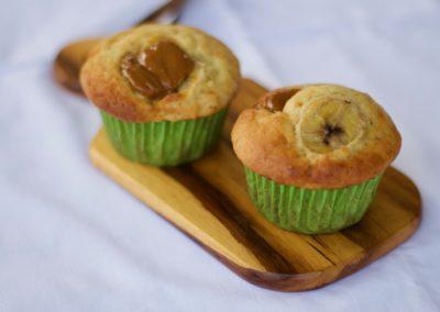 Banana caramel muffins