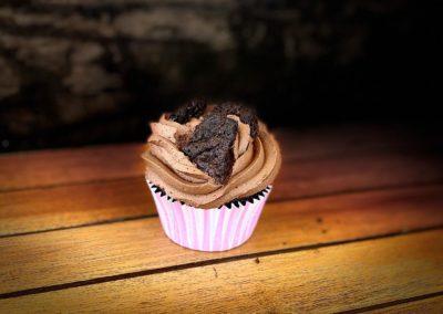 Chocolate brownie cupcakes