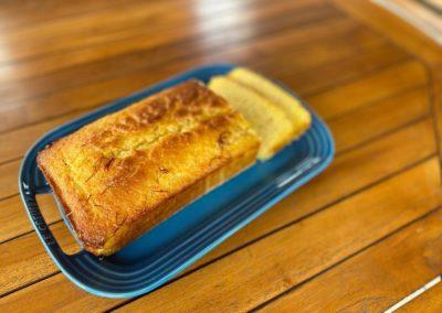 Lemon saffron loaf