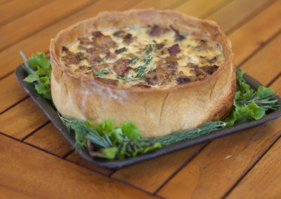 Ham, leek and mushroom tart