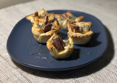 Pear and blue cheese pastries