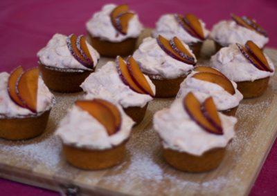 Plum and cardamom cupcakes