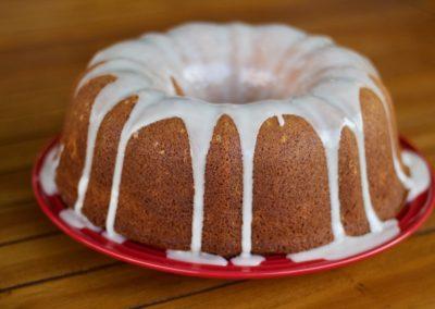 Rooibos and naartjie bundt cake